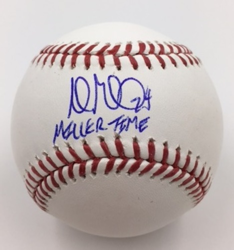 "Photo of Andrew Miller ""Miller Time"" Autographed Baseball"