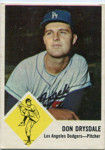 Photo of 1963 Fleer #41 Don Drysdale -- Hall of Famer