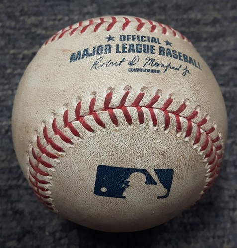 Photo of Authenticated Game Used Baseball - Matt Kemp Double and Nick Markakis RBI Single off of Mike Bolsinger (ATL at TOR on May 15, 2017)