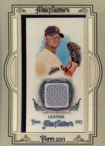 Photo of 2013 Topps Allen & Ginter Framed Mini Relics Jon Lester Cubs post-season