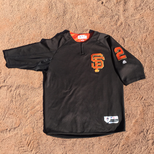 San Francisco Giants - 2017 Game-Used Batting Practice Jersey Worn by #2 Denard Span (Size: L)