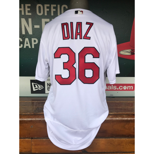 Photo of Cardinals Authentics: Aledmys Diaz Team-Issued Home White Jersey