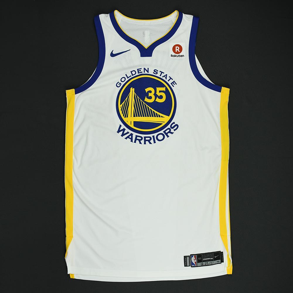 Kevin Durant - Golden State Warriors - NBA Christmas Day '17 Game-Worn Jersey