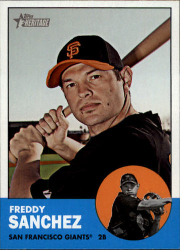 Photo of 2012 Topps Heritage #185A Freddy Sanchez