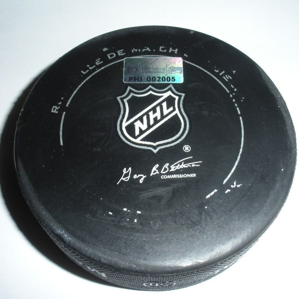 Brad Richards - New York Rangers - Goal Puck - March 26, 2013 (Flyers Logo)