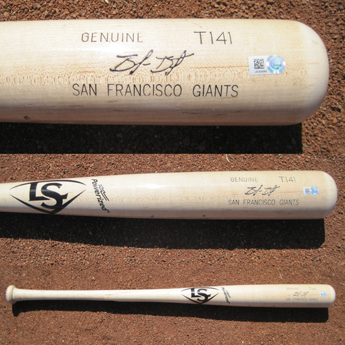 Photo of San Francisco Giants - Game-Used Broken Bat - WC Game v Mets - T1 Brandon Belt against Noah Syndergaard