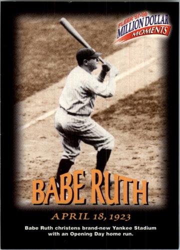 Photo of 1997-98 Fleer Million Dollar Moments #3 Babe Ruth