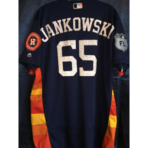 Photo of #65 Jordan Jankowski Team-Issued 2017 Spring Training Jersey