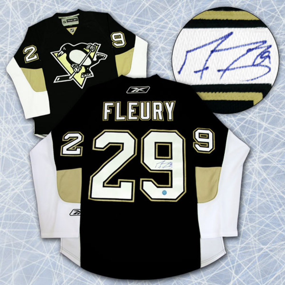 Marc-Andre Fleury Pittsburgh Penguins Autographed Reebok Premier Hockey Jersey