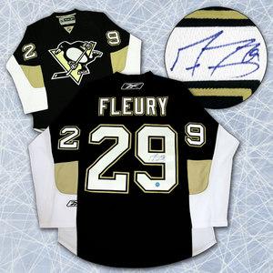 Marc-Andre Fleury Pittsburgh Penguins Autographed Reebok Premier Jersey