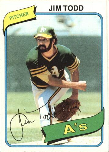 Photo of 1980 Topps #629 Jim Todd