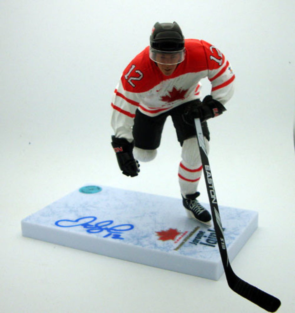 Jarome Iginla Team Canada Autographed Olympic McFarlane Sports Picks Figure
