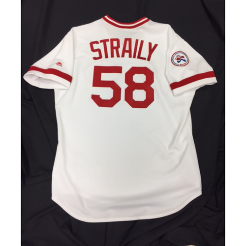 Photo of Game-Used Jersey - Dan Straily - 1976 Throwback Jersey - 6/24/16 SD vs. CIN