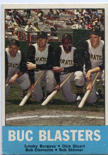 Photo of 1963 Topps #18 Buc Blasters Burgess Stuart Clemente Skinner