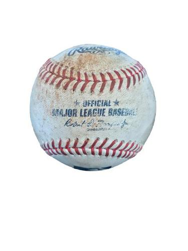 Photo of Game-Used Baseball from Pirates vs. Marlins on 6/11/17 - Locke to Frazier, Harrison, Osuna, Freese - Frazier Ground Out, Harrison Line Out, Osuna Single, 2 Pitches to Freese
