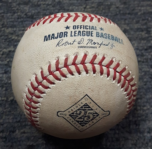 Photo of Authenticated Game Used Baseball - Anthony Alford's 1st MLB At Bat: Foul Ball by Anthony Alford against Chris Tillman (TOR at BAL on May 19, 2017)