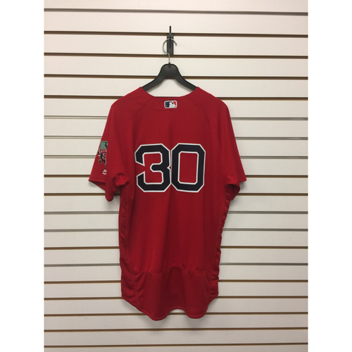 Photo of Chris Young Game-Used September 30, 2016 Home Alternate Jersey with David Ortiz Final Season Patch