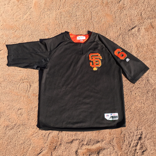 San Francisco Giants - 2017 Game-Used Batting Practice Jersey Worn by #6 Jarrett Parker (Size: XL)