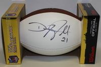 NFL - DEANGELO HALL SIGNED PANEL BALL