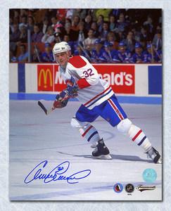 Claude Lemieux Montreal Canadiens Autographed Habs Action 8x10 Photo