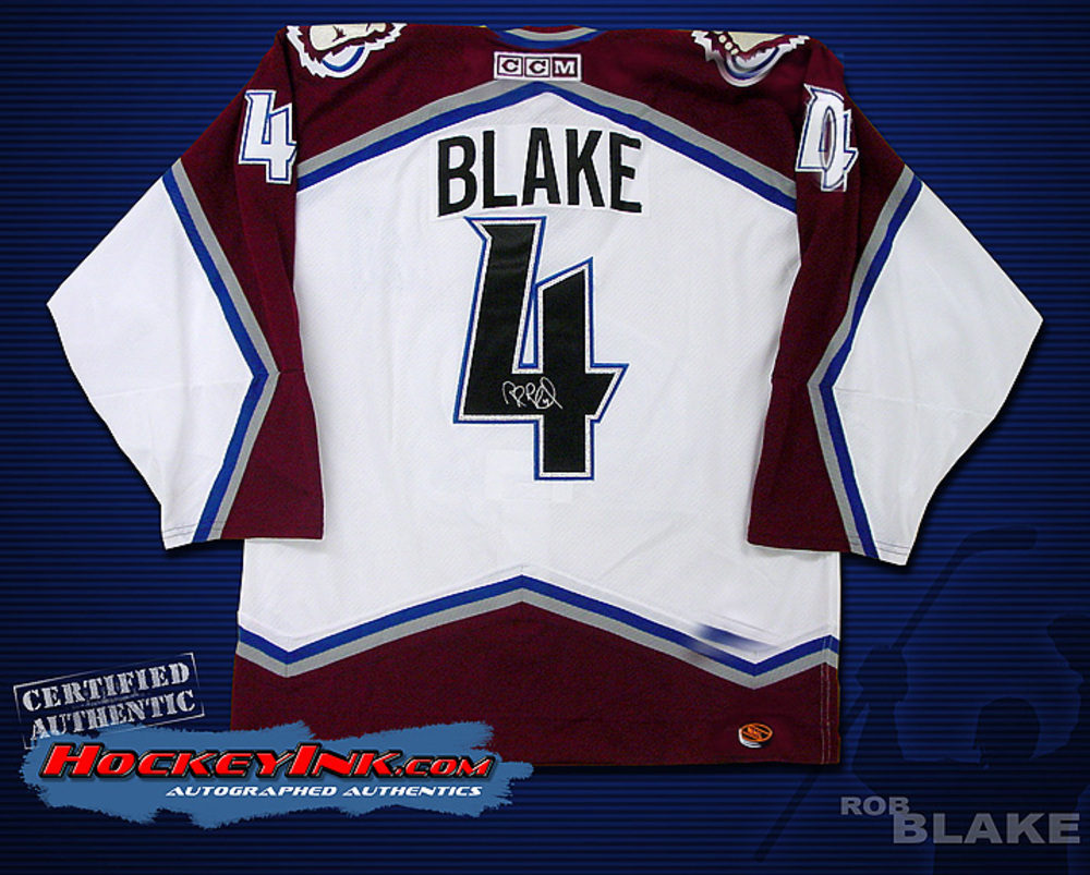 ROB BLAKE Signed White Colorado Avalanche CCM Jersey