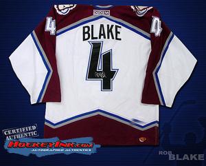 ROB BLAKE Signed White Colorado Avalanche CCM Jersey