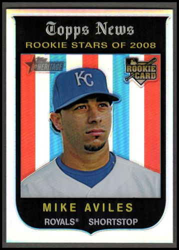 Photo of 2008 Topps Heritage Chrome Refractors #C270 Mike Aviles