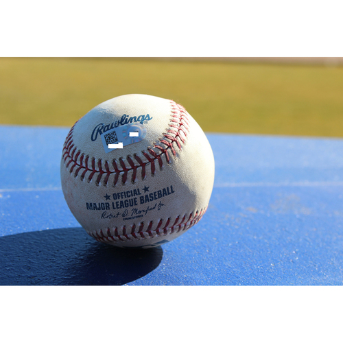 Photo of Game-Used Baseball: Burns Hit By Pitch - September 19, 2016 (CWS at KC)