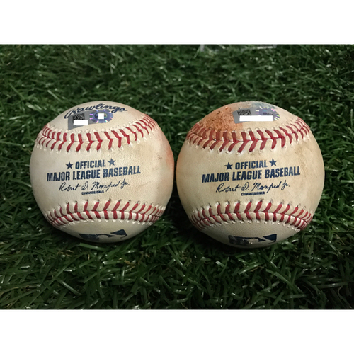 Photo of Game-Used Baseballs: Alex Cobb & Josh Donaldson