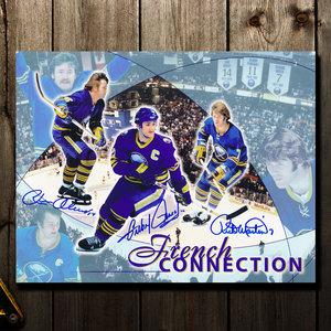 Gilbert Perreault, Rick Martin & Rene Robert Buffalo Sabres Autographed 8x10
