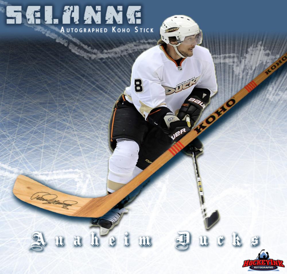 TEEMU SELANNE Signed Koho Stick - Anaheim Ducks
