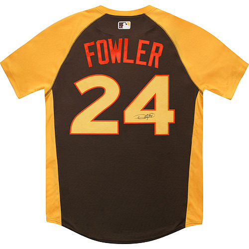 Photo of Dexter Fowler 2016 Major League Baseball Workout Day/Home Run Derby Autographed Jersey