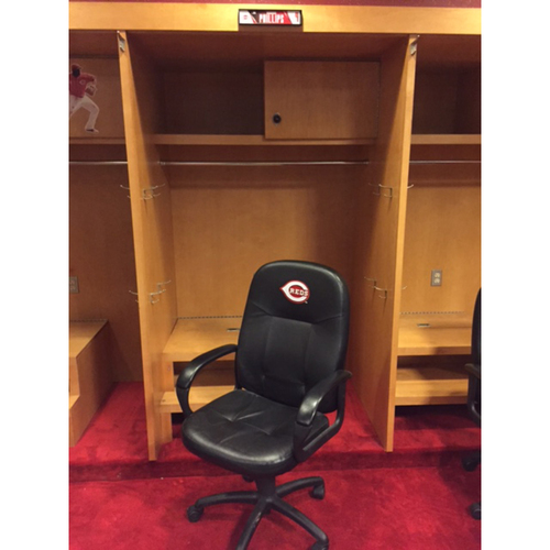 Photo of Team-Issued Locker Chair - Brandon Phillips - Locker Chair from 2016 Season