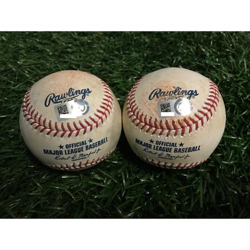 Photo of Game-Used Baseballs: Corey Dickerson & Luke Maile