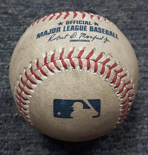 Photo of Authenticated Game Used Baseball - Aaron Judge Strikeout and Matt Holliday Single against Marco Estrada (NYY at TOR on June 1, 2017)