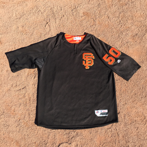 Photo of San Francisco Giants - 2017 Game-Used Batting Practice Jersey Worn by #50 Ty Blach (Size: XL)