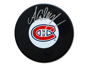 Alex Galchenyuk - Signed Montreal Canadiens Logo Puck