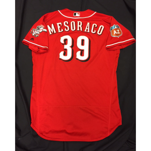 Photo of Team-Issued Jersey - Devin Mesoraco - 2016 Spring Training Jersey