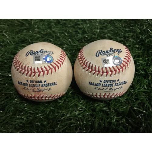Photo of Game-Used Baseballs: Brad Miller & Ian Desmond