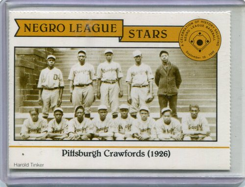 Photo of 1988 Negro League Duquesne Light Co. #4 1926 Pittsburgh/Crawfords
