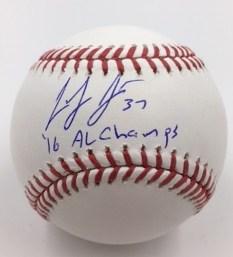 "Photo of Cody Allen ""16 AL Champs"" Autographed Baseball"