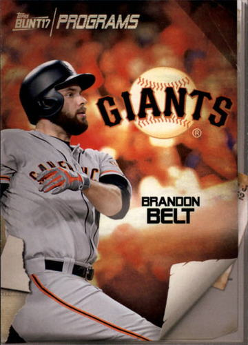 Photo of 2017 Topps Bunt Programs #PRBB Brandon Belt