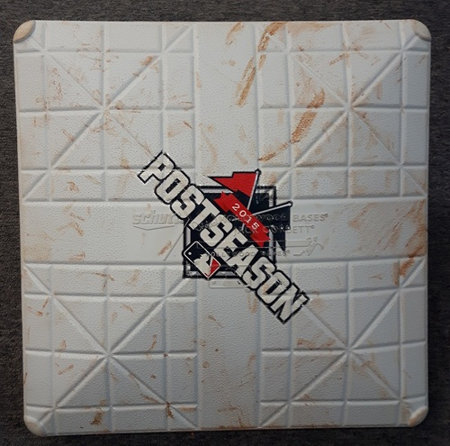 Authenticated Game Used Base - 2nd Base for Innings 1 to 3: Texas at Toronto (October 8, 2015). 1st postseason game in 22 years.