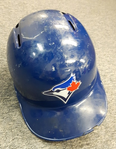Photo of Authenticated Game Used Helmet - #19 Jose Bautista.