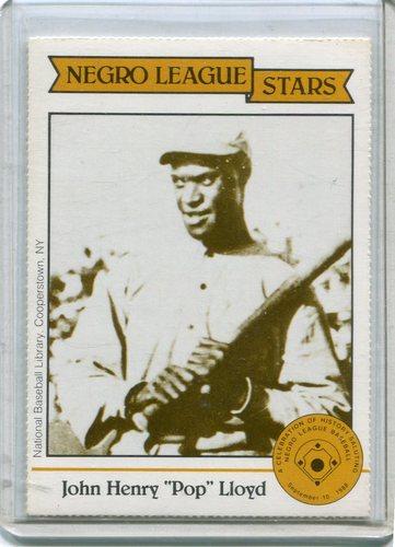 Photo of 1988 Negro League Duquesne Light Co. #6 John Henry(Pop) Lloyd