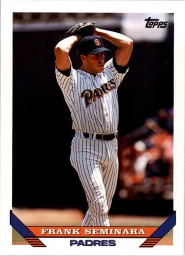Photo of 1993 Topps #247 Frank Seminara UER/Acquired 12/3/98