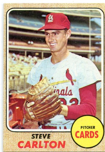 Photo of 1968 Topps #408 Steve Carlton -- Hall of Famer