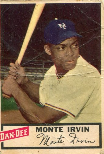 Photo of 1954 Dan-Dee #13 Monte Irvin -- Hall of Famer