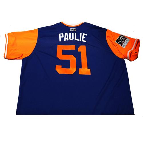 "Photo of Paul ""Paulie"" Sewald New York Mets Game-Used Players Weekend Jersey"