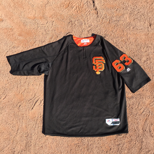 San Francisco Giants - 2017 Game-Used Batting Practice Jersey Worn by #63 Ryder Jones (Size: XL)